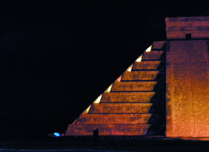 The Pyramid of Kukulkan - Chichen Itza lightshow